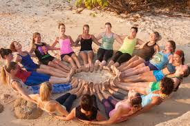 yogis in a circle